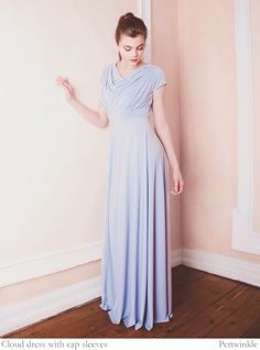 Multiway bridesmaids dresses by Willow Pearl Cloud dress with cap sleeves in light blue - Willow & Pearl Multiway Bridesmaids Dresses - Create Your Own Custom Dresses, Dresses Uk, Nice Dresses, Girls Dresses, Wrap Dresses, Multiway Bridesmaid Dress, Beautiful Bridesmaid Dresses, Wedding Dresses, Cowl Back Dress