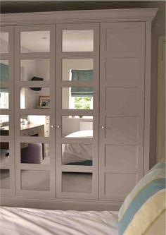 Ikea Bergsbo doors with mirror Bedroom Closet Doors, Bedroom Cupboards, Bedroom Closet Design, Ikea Bedroom, Home Bedroom, Wardrobe Wall, Bedroom Wardrobe, Bedroom With Bath, Closet Layout