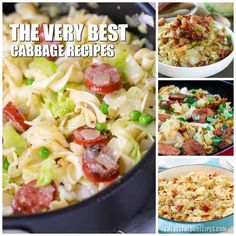 The Best Cabbage Recipes are going to be your new favorites! They are the perfect dinners and trust me when I say that there will be no leftovers. Instant Pot Dinner Recipes, Side Dish Recipes, Vegetable Recipes, New Recipes, Cooking Recipes, Healthy Recipes, Crockpot Recipes, Best Cabbage Recipe, Cabbage Recipes
