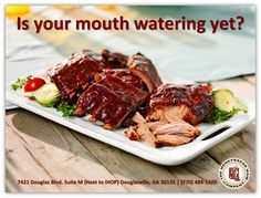 """Nothing says """"summer"""" like HoneyBaked Ham Douglasville 's delicious fall off the bone ribs!"""