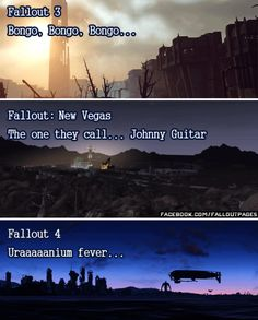 Fallout made me obsessed with 1950s music. I wouldnt have liked retro music otherwise. Reblog if you agree.  And join me on Facebook. http://ift.tt/1OUtDiq  fallout fallout 4 uranium fever johnny guitar bongo bongo