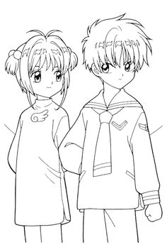 The Beautiful Sakura Coloring Page Anime Colouring Coloring