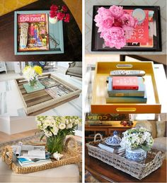 Cute idea for kitchen, bedroom. The one with blue and white would be cute on your dining room table