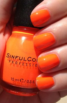 Sinful Colors- Summer Peach (which is a neon orange, not peach!)