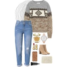 A fashion look from December 2016 by literallydorothyelizabeth featuring Étoile Isabel Marant, WithChic, Yves Saint Laurent, Olivia Burton, Felony Case, Milani...