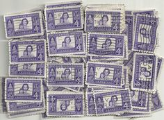 #1152 - 4¢ Amer x 100 Used US Stamps Lot American Woman Issue See our other lots