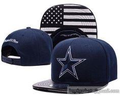 8a2a01893 Dallas Cowboys Navy Blue Snapback Hats Brim Leather Under Flag Logo Dallas  Cowboys Hats