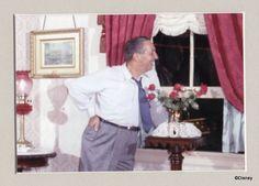 Walt in his Disneyland apartment...