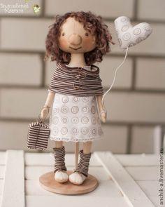 Muñecas de colección hechos a mano.  Clara.  Anna Ananiev