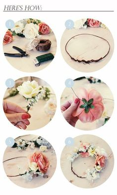 DIY Flower crown for prom.
