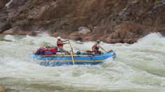 Rafting the rapids in the canyon.