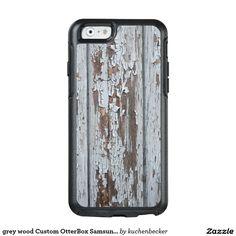 grey wood Custom OtterBox Samsung Galaxy S7 Edge OtterBox iPhone 6/6s Case