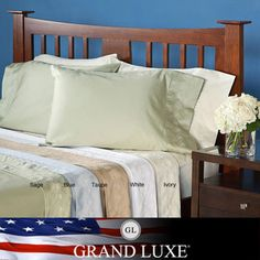 @Overstock - These swirl embroidered sheets are made with 100-percent Egyptian cotton sateen for a soft and smooth feel. The pillowcases can be purchased as pairs as an option.  http://www.overstock.com/Bedding-Bath/Grand-Luxe-Egyptian-Cotton-Sateen-300-Thread-Count-Swirl-Deep-Pocket-Sheet-Set-and-Pillowcase-Separates/5947489/product.html?CID=214117 $26.99