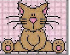 Pixel Crochet Blanket, Crochet Blanket Patterns, Beaded Cross Stitch, Cross Stitch Patterns, Chart Design, Cross Stitch Animals, Stitch Design, Cross Stitching, Pixel Art