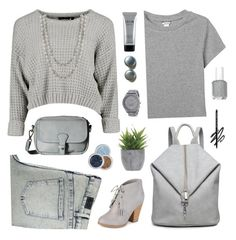 """off to school Top Set"" by countrycousin ❤ liked on Polyvore featuring Cheap Monday, Monki, Liebeskind, Journee Collection, Lux-Art Silks, Stila, Nine West, Nanacoco, comments and topsets"