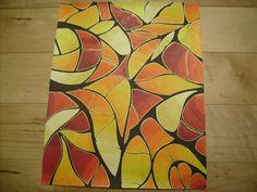 Crayons de couleurs et encre - par Florence Berthold
