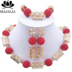 Find More Jewelry Sets Information about Fashion nigerian wedding african beads jewelry Set red beads necklace bracelet earrings jewelry set  P 4095,High Quality jewelry nipple,China jewelry sweden Suppliers, Cheap jewelry moonstone from Majalia Nigeria Africa wedding jewelry co., LTD store on Aliexpress.com