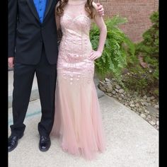 Prom dress Beautiful rose pink Dave and Johnny prom gown.  Worn one time. Dave & Johnny Dresses Prom