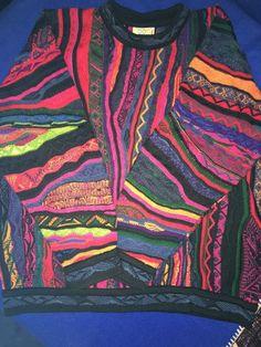 Coogie 3D Textured Hip Hop Biggie Colorful Mercerized Cotton Sweater Size L   eBay