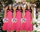 rockabilly bridesmaid dresses. Red dress?