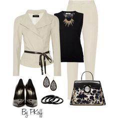 Pantsuit by pkoff on Polyvore featuring Nina Ricci, Isabel Marant, Yves Saint Laurent, Tory Burch, Furla and Alexis Bittar