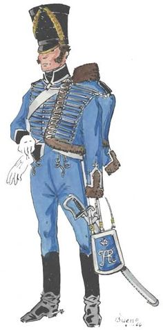 Гусар 12-го полка прусских гусар, 1815 год - Gusar 12-th regiment Prussian hussars, 1815.