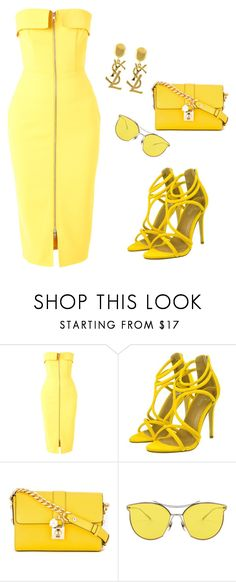 """""""Untitled #36"""" by elkaa993 ❤ liked on Polyvore featuring Alex Perry, Dolce&Gabbana and Yves Saint Laurent"""