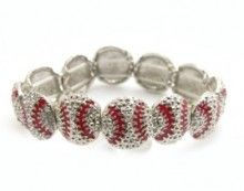 Around the horn baseball bracelet ~ $11.99 This super cute stretch bracelet features small baseballs all the way around the wrist. Show your love of the game and look great doing it!
