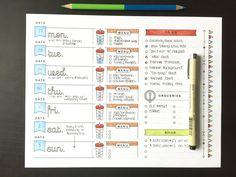 """Képtalálat a következőre: """"bullet journal menu planner"""""""