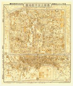 antique beijing map