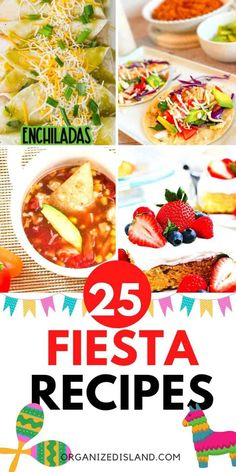 Mexican recipes for your next Taco Tuesday or Cinco de Mayo festival. From appetizers to desserts, there are many delicious colorful recipes here. Simple Recipes, Quick Recipes, Veggie Recipes, Easy Dinner Recipes, Delicious Recipes, Asian Recipes, Mexican Food Recipes, Easy Meals, Yummy Food