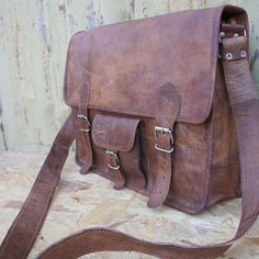 Leather Satchel / Messenger / Laptop Bag - Mens - Handmade Vintage ...... | GenuineProducts - Bags & Purses on ArtFire
