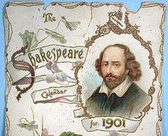 The Shakespeare Calendar for 1901 (Tuck DB Ephemera)