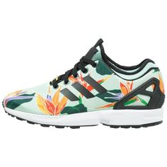 adidas Originals ZX FLUX NPS Trainers blush green ($92) ❤ liked on Polyvore featuring shoes, sneakers, multicoloured, green sneakers, green flat shoes, multicolor shoes, multi colored shoes and round toe sneakers