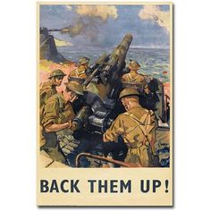 Trademark Art Back Them Up, 1941 inch Canvas Wall Art, Size: 30 x 47, Multicolor