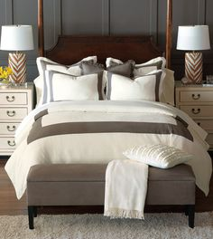 Another At Home wish list item! Breeze Mitered Linen Collection from Eastern Accents