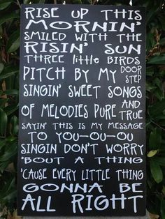 3 little birds by Bob Marley, a song I play and sing to my grandchildren, love this song
