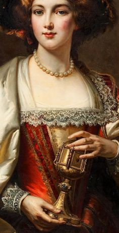 CESARE AUGUSTE DETTI (1847-1914), Portrait of a noblewoman