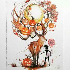 Beautiful watercolor painting by Luqman Reza Mulyono