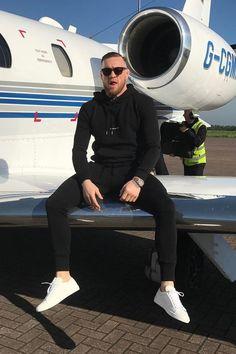 Conor McGregor wearing  Saint Laurent Logo Hoodie
