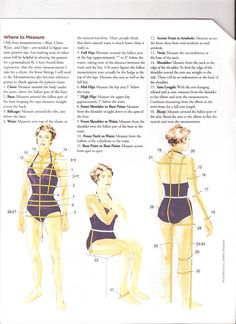 To get a custom fit from your patterns, measure these areas and adjust the pattern as needed.