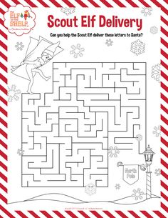 Kids Coloring Pages   Christmas Activity Page   Christmas Maze   Elf on the Shelf Ideas