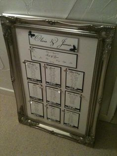 wedding table plans in frames - Google Search