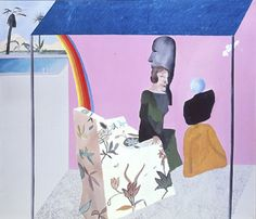 Hockney 의 작품 California Art Collector 이다. 이 작품은 1964년 작품으로 Hockney 가 캘리포니아에 있던 시절, 캘리포니아를 주제로 한 작품중 하나이다. Hockney는 캘리포니아의 여유로우면서 생동감 넘치는 모습을 좋아했다고 한다. 그래서 인지 유독 생기 있는 색상들로 채워져있다. Hockney의 작품엔 다양한 의자들이 많이 등장 하는데 이번 작품의 의자 (카우치에 가까운) 역시 평범하진 않다. 의자의 아주 기본적인 모형은 겨우 갖추고 있으나 형태 자체가 자세히 묘사되지 않았다. 외려 핑크, 아이보리, 그리고 길쭉한 꽃 패턴 등으로 두 여성들을 돌려 그려낸듯 하다. 작품 제목이 Art collector인 것 으로 미뤄보아 두 인물은 꽤나 부유한 듯 한데, 개인적으로는 두 여성의 겉치레, 혹은 있는척을 꽃은 꽃인데 못생긴 꽃으로 풀어낸것이 아닐까 생각해본다.