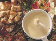 Classic Swiss Cheese Fondue (1) From: Dairy Goodness (2) Webpage has a convenient Pin It Button