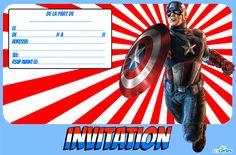 carte invitation anniversaire Capitaine America à imprimer