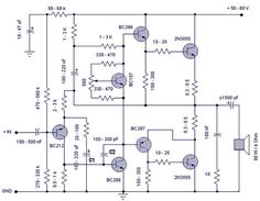 100w hifi power amplifier circuit with sanken circuit