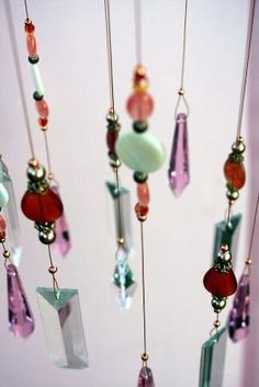 wind chimes, what a neat idea for beautiful beads by Jen Ingram