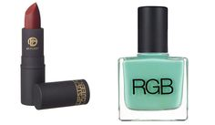 To get Solange's totally cool deep berry lip and mint green mani and pedi, try the following products.