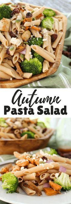 Autumn Pasta Salad #ad #BarillaProteinPLUS @BarillaUS | Pasta Salad | #fallrecipes